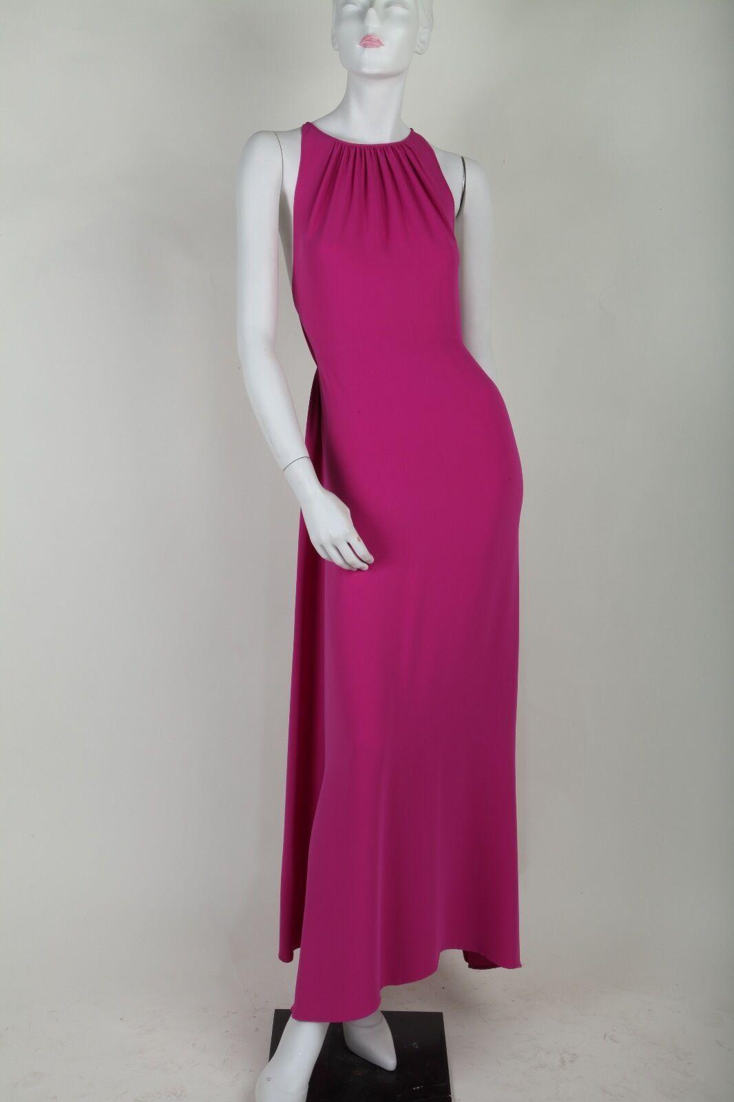 Vintage Oscar De La Renta Pink Draped Gown
