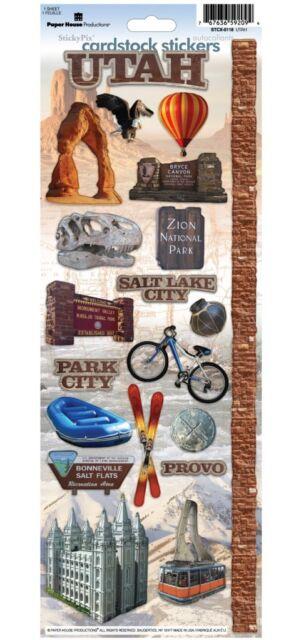 Paper House Utah Travel Vacation Cardstock Scrapbook Stickers Ebay