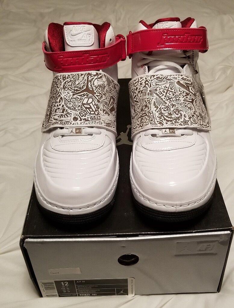 Nike air Jordan Fusion Ajf 20 White Nero red (331823 101)