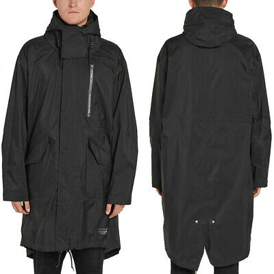 adidas Originals Mens NMD Shell Jacket Waterproof Long Parka Hooded Coat Black | eBay