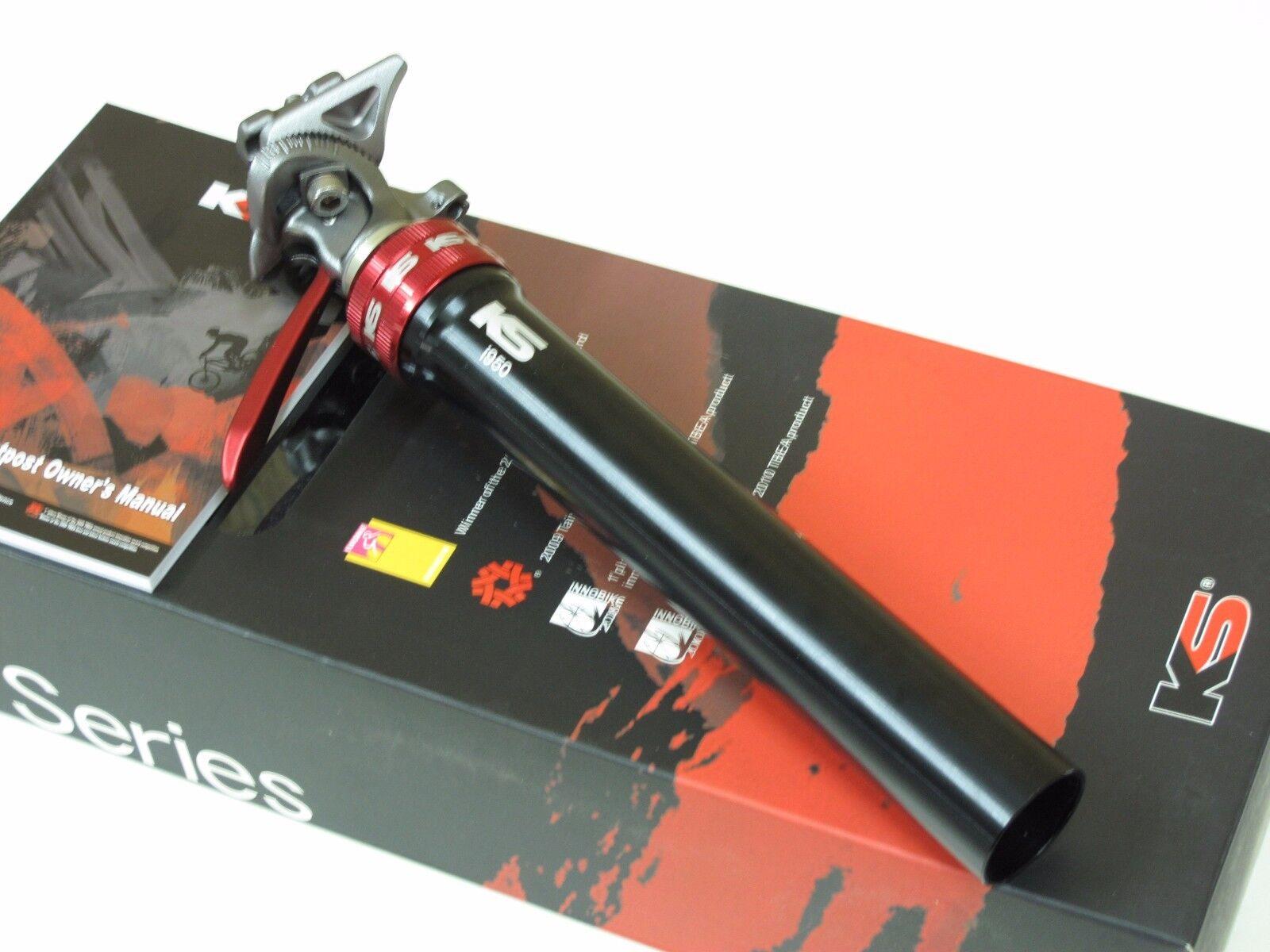 Nuevo KS I950 viaje ajustar 100mm tija de sillín 31.6 mm