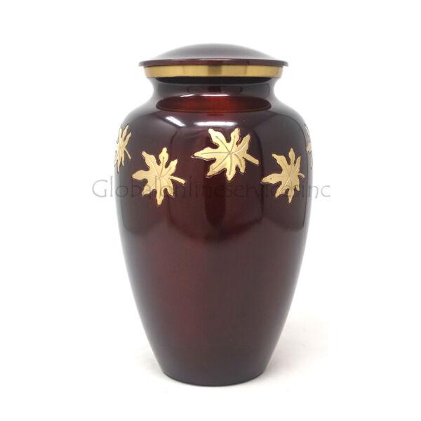 100% Vero Medium Che Cadono Le Foglie Cremazione Urna Per Ceneri Uk