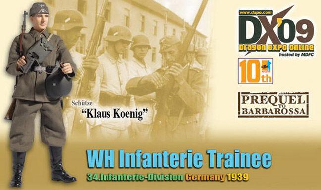 Dragon Dragon Dragon Models DX09 WWII 1 6 scale 12  German Soldier Trainee Klaus Koenig 70734 b87bba