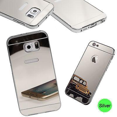 Ultra-Thin Aluminium Alloy Bumper Metal Frame Shiny Mirror Bling Back Case Cover