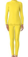 Kid Adult Lycra Spandex Zentai costume Dancewear Unitard No Hood & Hands feets