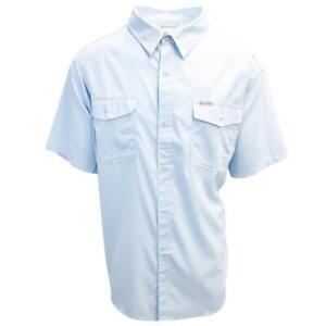 Columbia-Men-039-s-Sky-Blue-Utilizer-II-Solid-Short-Sleeve-Shirt-Retail-60-00