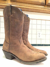 Durango Ladies RD4112 Brown Leather Cowgirl Western Boots Size 9 M (Lot C)