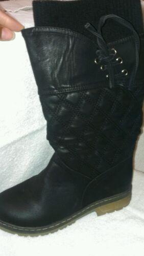 Black Mid-calf Boots