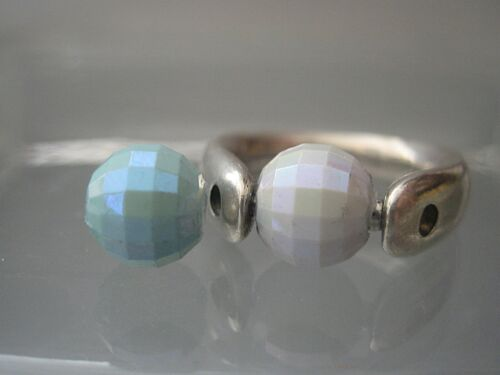 Farbauswahl: Türkis 8mm Iris facettiert Perle kompatibel mit Tipit S