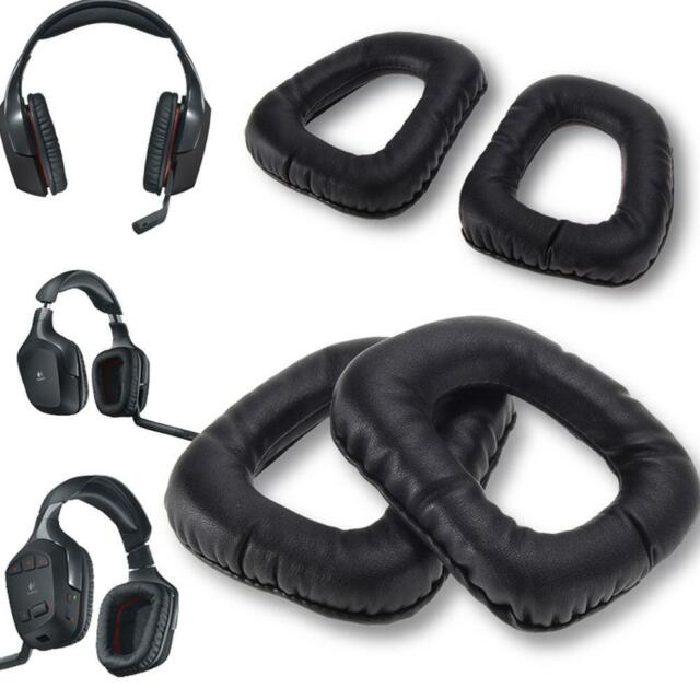 1 Pair Of Soft Blue Replacement Ear Pads Earmuffs Ear Cushions For Logitech G35 G930 G430 F450 Headphones Consumer Electronics