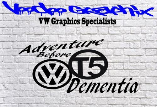 ADVENTURE BEFORE DEMENTIA Vinyl Decal Sticker VDUB VOLKSWAGEN T5 VW