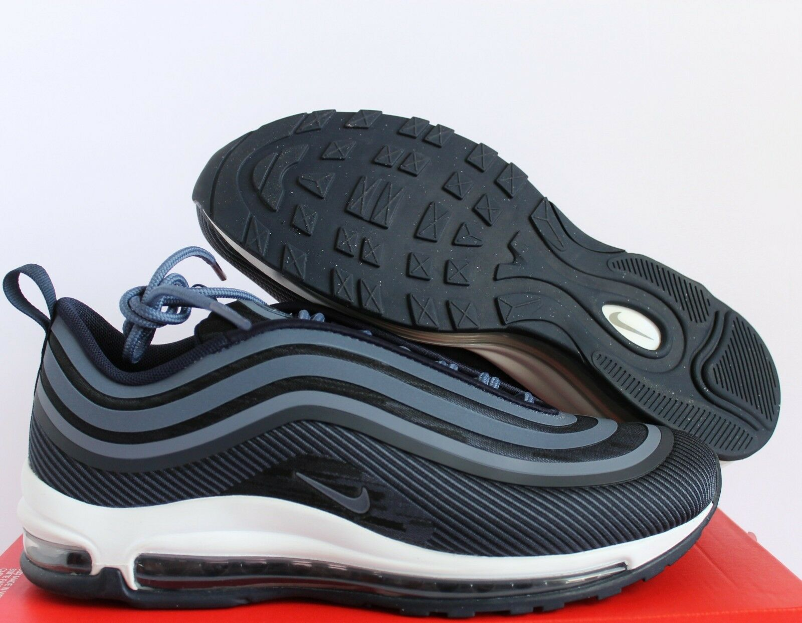 NIKE AIR MAX 97 UL ULTRA '17 OBSIDIAN-DIFFUSED blueE-WHITE SZ 8