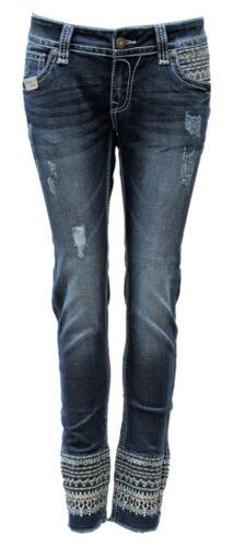 Luxery Blue Monkey Jeans Luna Damen BM-3988 Cropped
