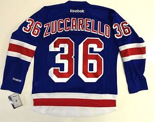 12169b49a87 MATS ZUCCARELLO NEW YORK RANGERS REEBOK NHL PREMIER HOME JERSEY NEW ...