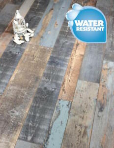 Cobalt Blue grey laminate Flooring Packs Click 20 Year Warranty AC4 ...
