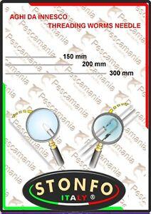 Aghi-Stonfo-testa-bianca-per-l-039-innesco-di-vermi-ago-koreano-arenicola-mm-0-8