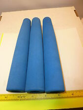 3 PIECES TAPERED CORAL BLUE EVA FOAM HANDLES GRIPS FOR ROD BUILDERS OR REPAIRS