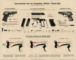 big german ww2 walther ppk color poster vintage artwork manual lqqk rh ebay com walther ppk repair manual walther ppk repair manual