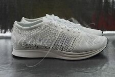 Nike Flyknit Racer White Sail Running Shoes 526628-100 Men Sz 7.5 Women Sz 9