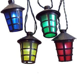 led party lichterkette 50er laterne lampion 12 25m 4 farbig au en fhs 11567 ebay. Black Bedroom Furniture Sets. Home Design Ideas