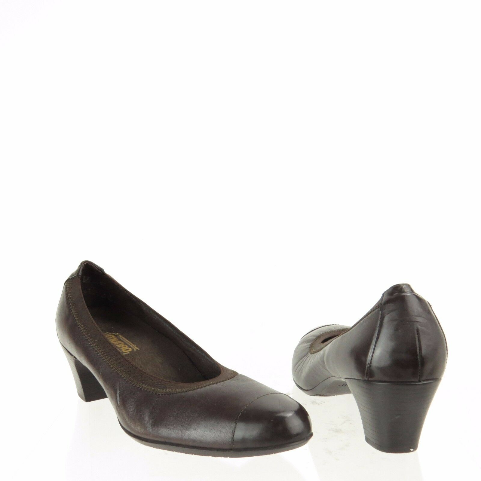 Women's Munro Odette shoes Dark Brown Leather Cap Toe Pumps Size 9.5 M NEW