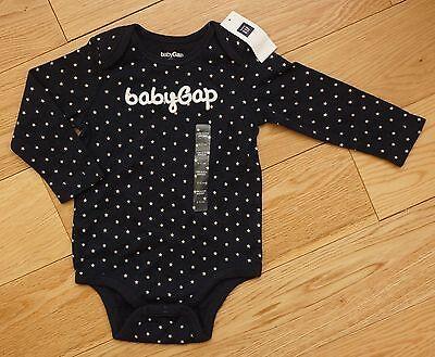 BabyGap Long-sleeve Unisex Boys Girls Star bodysuit sz