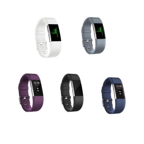 Replacement Silicone Rubber Band Strap Wristband Bracelet For Fitbit Charger 2 Y