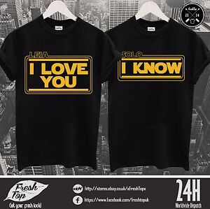leia i love you solo i know t shirt top star wars geek nerd matching