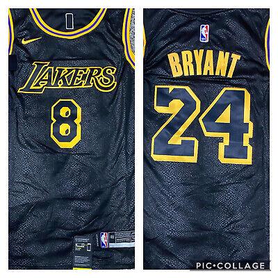 Kobe Bryant 8 Front # 24 Back Jersey Lakers Jersey Stitched SIZE ...