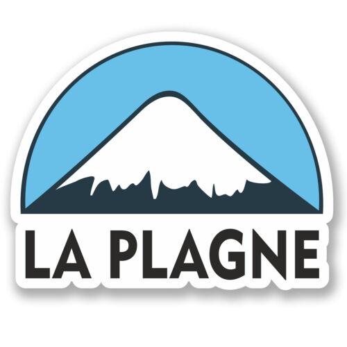 2 X 10 Cm La Plagne Ski Snowboard pegatina de vinilo Ipad Laptop Equipaje De Viaje # 5132