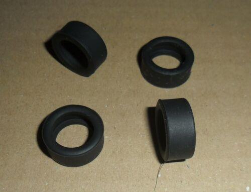 Scalextric 4 new grippy slick car tyres BMW Mini Subaru Lancer Focus etc Spares.