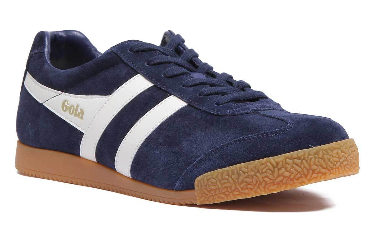 Gola Classics Harrier Mens Navy Suede Trainer Size UK 7 - 12