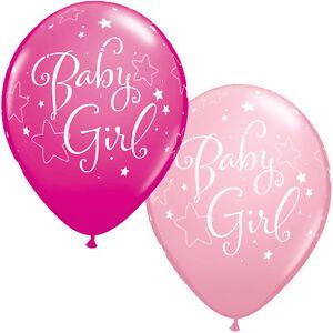 Baby-Girl-pink-stars-latex-balloons-x-5