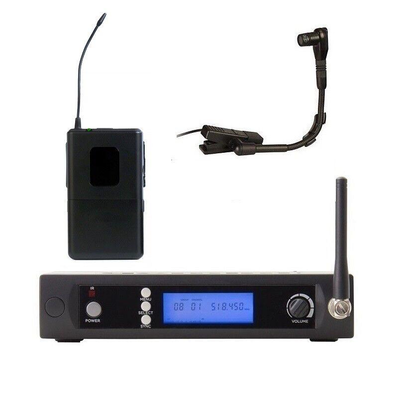 Sistema De Micrófono Micrófono Micrófono Inalámbrico Uhf Instrumento W 100 canales para saxofón Beta 98H C  Descuento del 70% barato