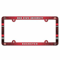 Ohio State Buckeyes Color Car Auto Plastic License Plate Tag Frame