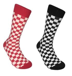 7bfdc81546537 Details about Mens Checkered Socks Checkerboard Checker Classic - 1 Pair