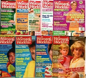 9-Woman-039-s-World-Magazines-Princes-Diana-Mary-Beth-Evans-Health-Diet-Bolton-Food