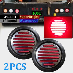 2pcs-Round-Rear-Stop-49-LED-Light-Tail-Brake-Turn-Signal-Lamp-Trailer-Truck-Van