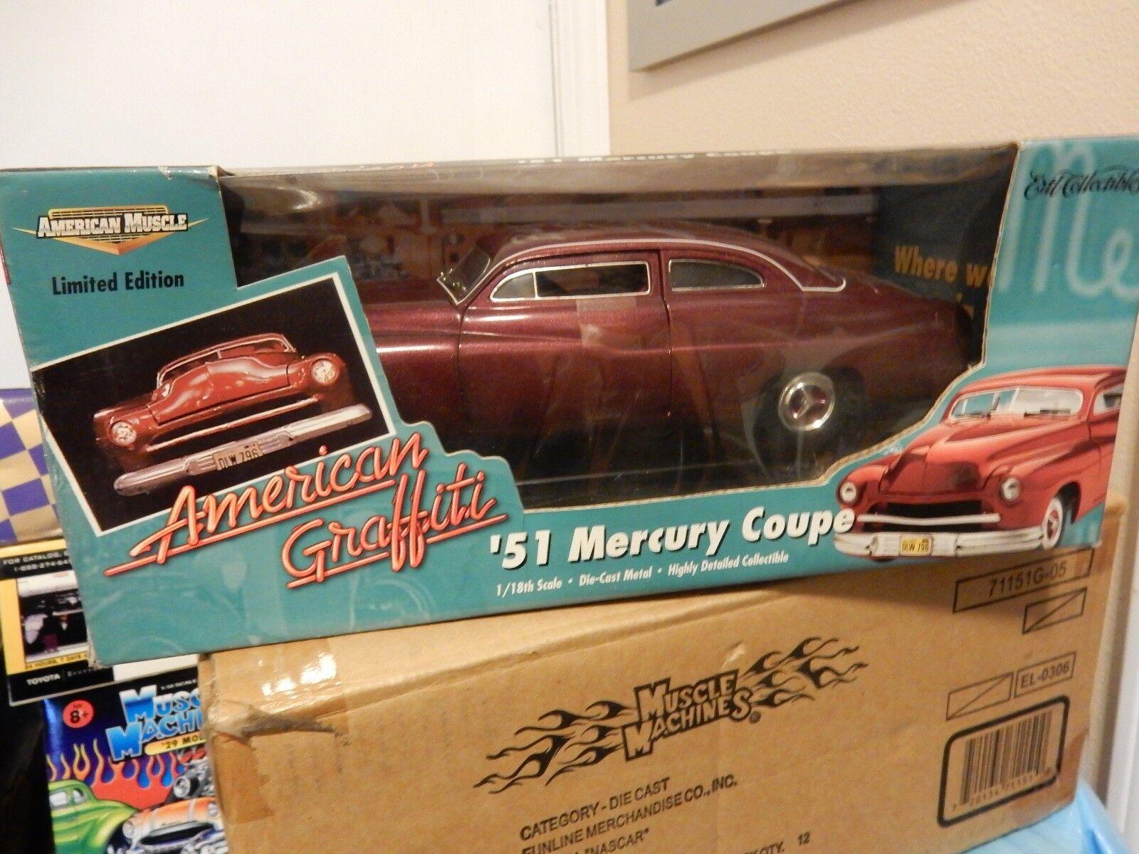 1951 Mercury American Grafiti signé Bo  Hopkins voiture échelle 1.18 ERTL  la meilleure sélection de