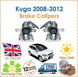 fuer-Ford-Kuga-MK-I-2008-2012-Heck-Fahrer-und-Beifahrer-Bremssaettel-X2-NEU