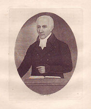 JOHN KAY Original Antique Etching. Rev. Dr. Peddie, In 1810, 1810