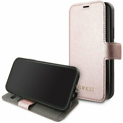 Genuine GUESS Iridescent Collection Book Case for iPhone 11 Pro in Rose Gold | eBay