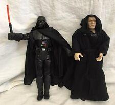"""Star Wars Sith Lord Emperor & Darth Vader 12"""" Action Figure Set Hasbro Dark Side"""