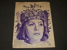1934 FEBRUARY 18 NOVNELLA MAGAZINE - QUEEN CHRISTINA - GRETA GARBO - ST 3151
