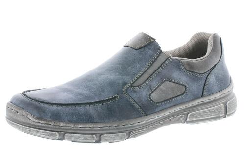 Rieker 13770-14 Slipper Halbschuhe Loafer Herrenschuhe blau 40-47 Neu7