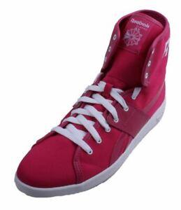 Reebok-Top-Down-Womens-Condensed-Pink-White-Dot-Fashion-Sneakers