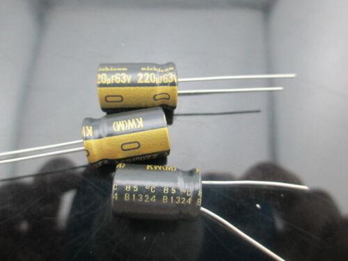 10PCS Nichicon KW 220uf 63v 220mfd audio ELECTROLYTIC Capacitor caps 10mm 16mm