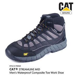 Cat Streamline Mid Mens Waterproof Composite Toe Work Safety Shoe