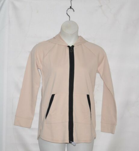 Linea Leisure by Louis Dell/'Olio Zip Front Jacket w// Hood Size S Alabaster