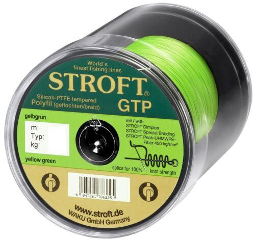 STROFT GTP S 125 m Gelbgrün yellow green Geflochtene Angelschnur von S06 bis S7